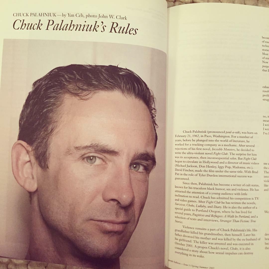 Chuck Palahniuk Purple Fashion