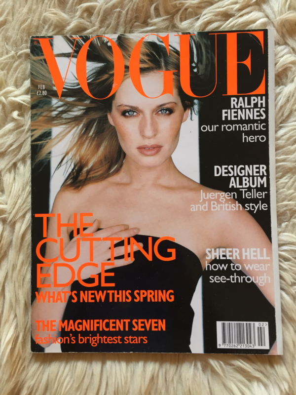 British Vogue February 1997 cover