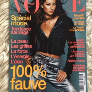 Vogue Paris Aout 1999 Gisele Cover