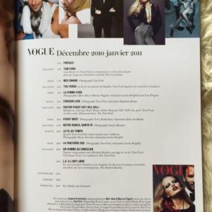 Vogue Paris Dec10/Jan11 Contents 1