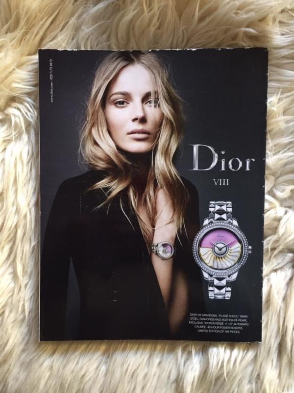 British Vogue December 2014 Back