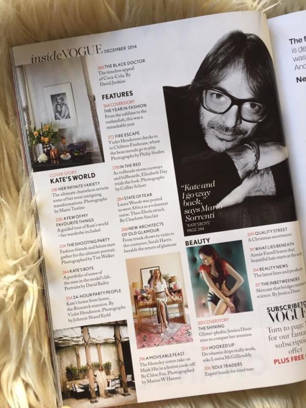 British Vogue December 2014 Contents