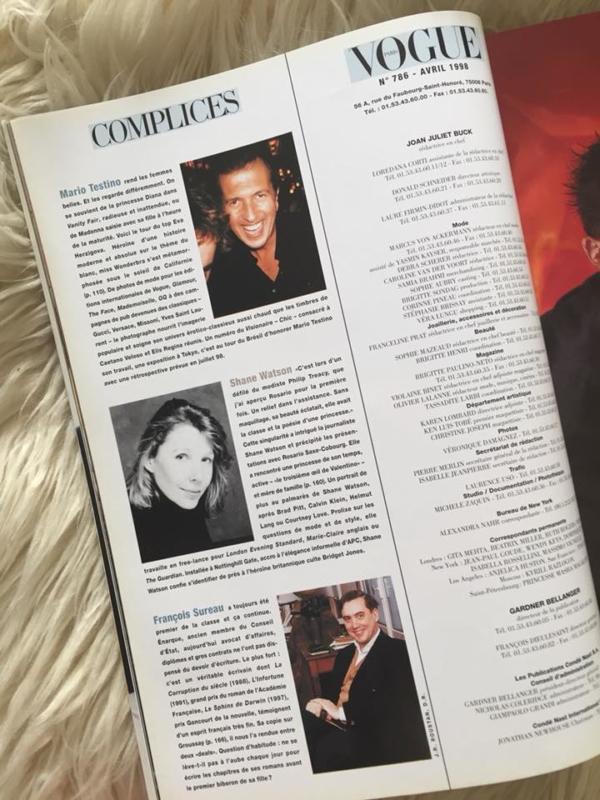 Vogue Paris - Avril 1998 Collaborators