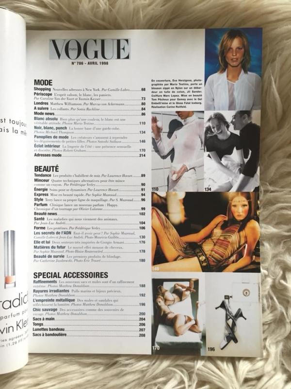 Vogue Paris - Avril 1998 Contents 1
